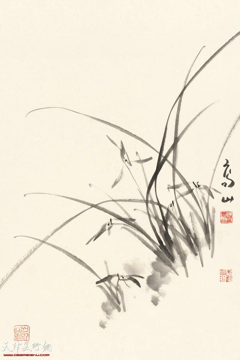 丛兰泛远香  70cm×46cm (2017年)