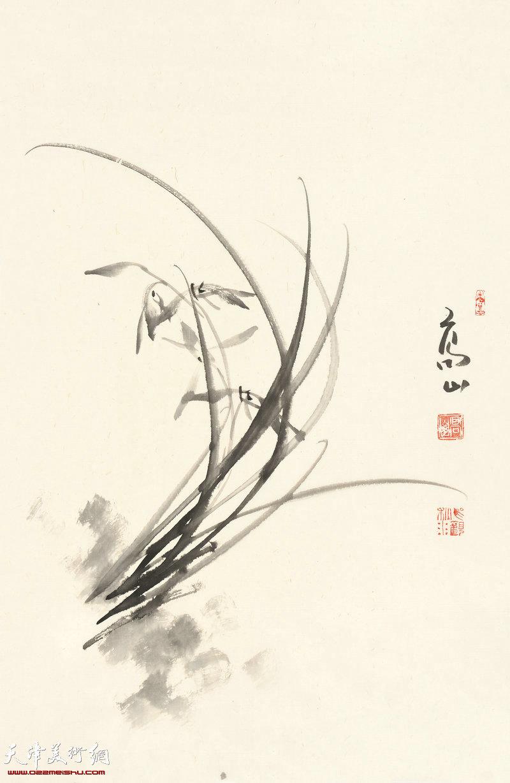 蕙风入怀抱 70cm×46cm (2017年)