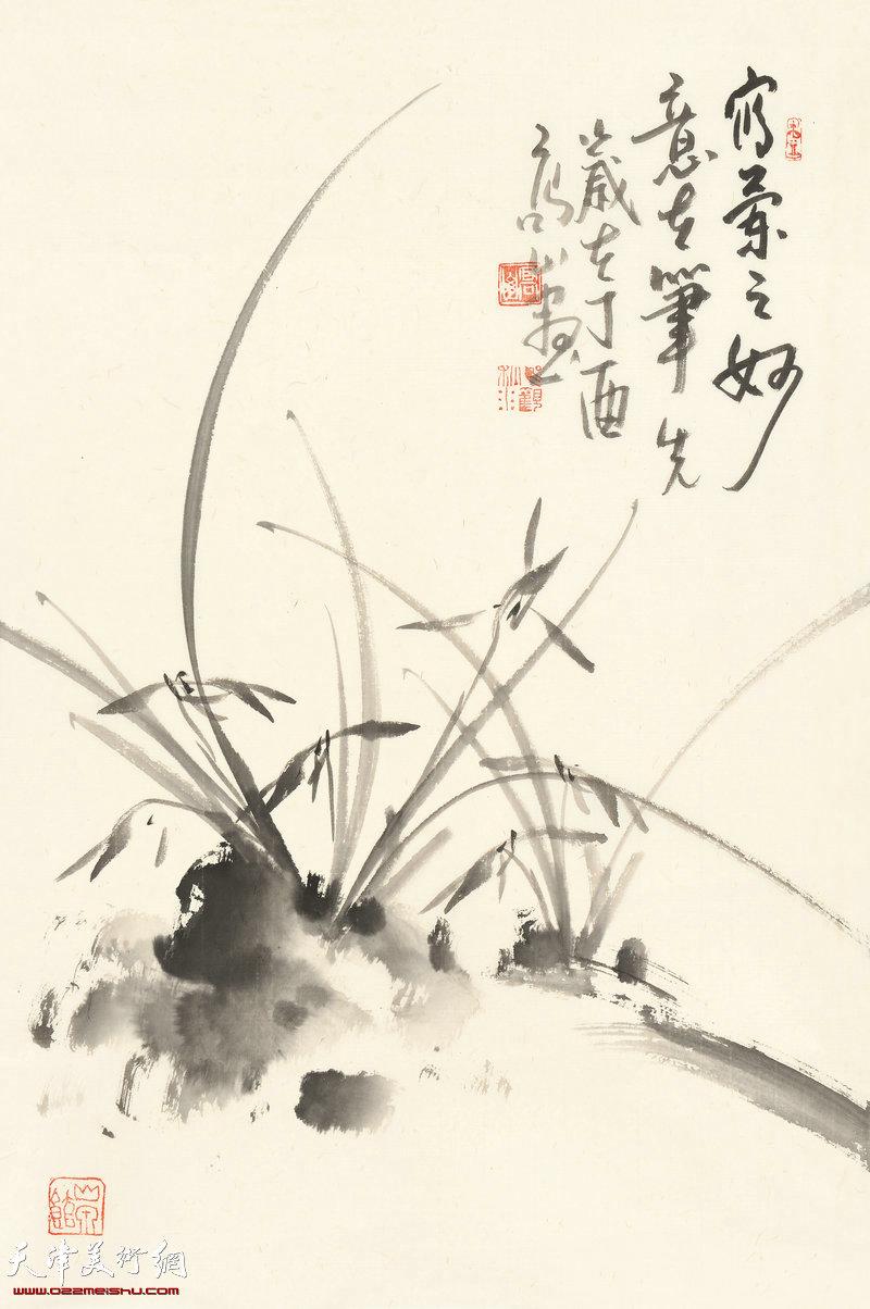 写兰之妙  70cm×46cm (2017年)