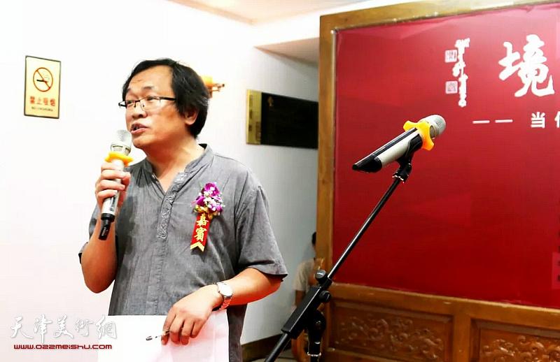 天津人民美术出版社总编杨惠东主持开幕仪式