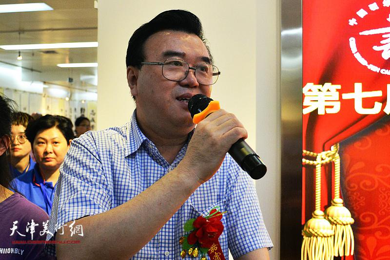 中国硬笔书法协会主席张华庆致辞