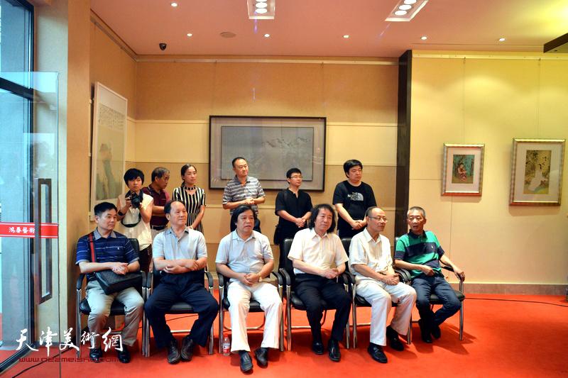 工笔当代—天津工笔重彩研究中心首届画展开幕仪式现场