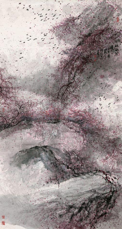 《林谷芳飞》 179×96cm