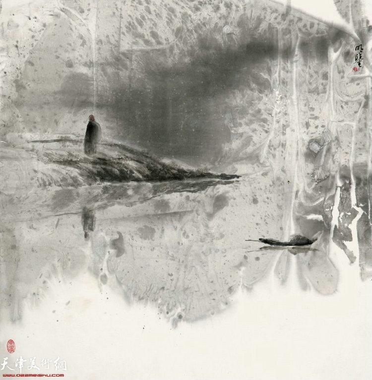 《五祖松渡》 68×68cm