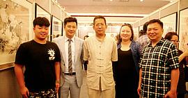 无上清凉—朱懿、贾冰吾、李寅虎、闫勇书画展在天津迎宾馆举行