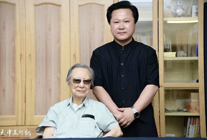赵景宇先生与陈佩秋先生合影留念