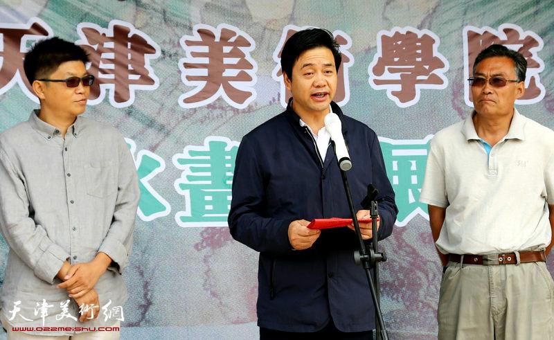 隆德县政协主席王升致辞。