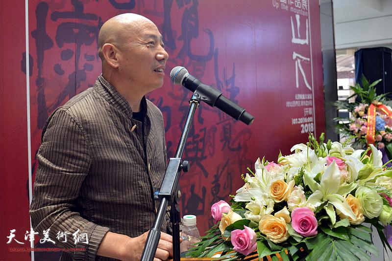 中国文联副主席、京剧表演艺术家孟广禄致辞。