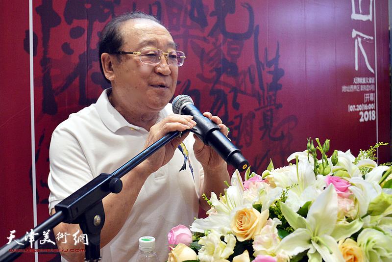 著名相声表演艺术家魏文亮致辞。