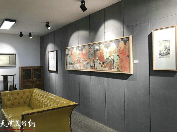 月入初禅——天津水墨名家展现场