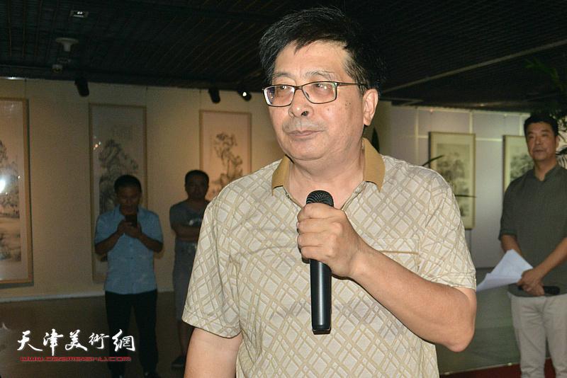 著名书画家隋家祐致辞。