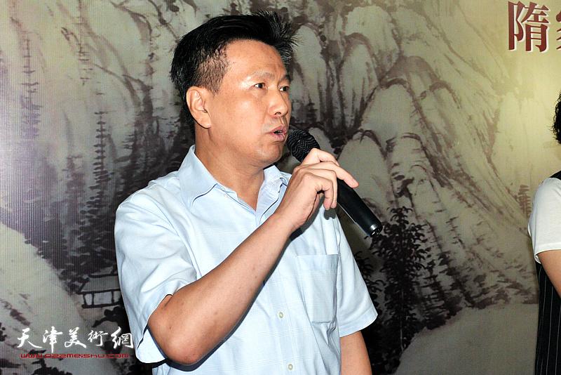 天津空港经济区文化中心主任李岩致辞。