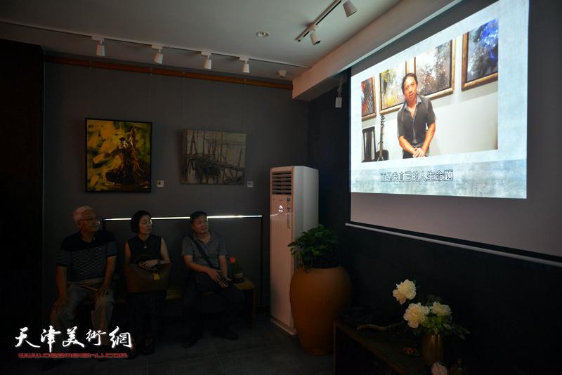 李长青先生通过视频与天津的观众见面