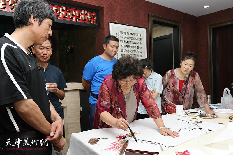 今晚书画家艺术交流中心成立三周年