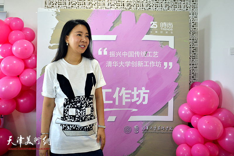 刘芳在时尚集团25周年社庆活动现场。