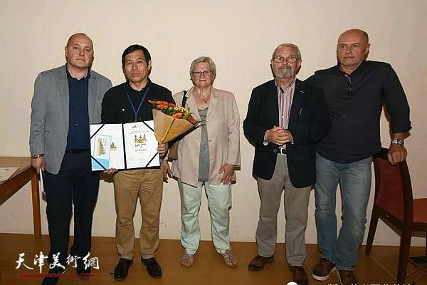 刘硕海在颁奖现场。