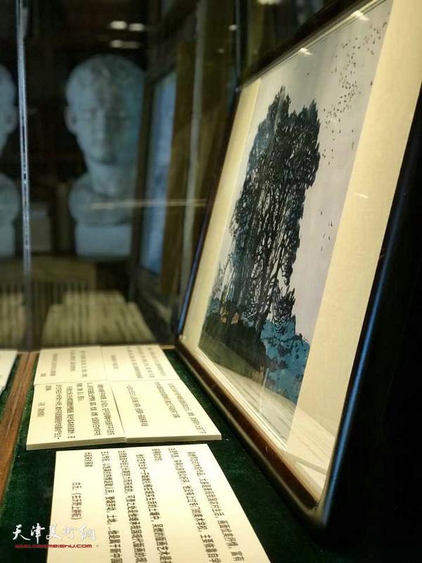 水香洲书院展示的吴燃先生作品。