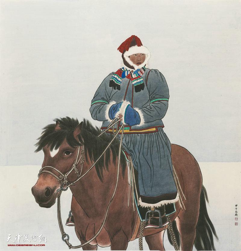 09 孙志钧 布里亚特的冬季 186cm×179cm