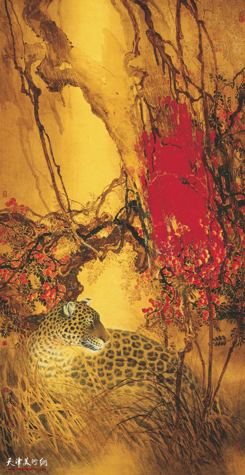36 林涛 山到秋深红更多 175cm×90cm