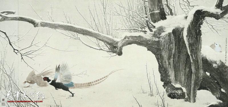 44 张晓彦 惊雪 125cm×260cm