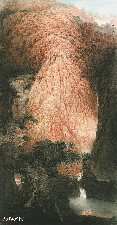 廖正华 广西 松山隐逸图 241cm×125cm