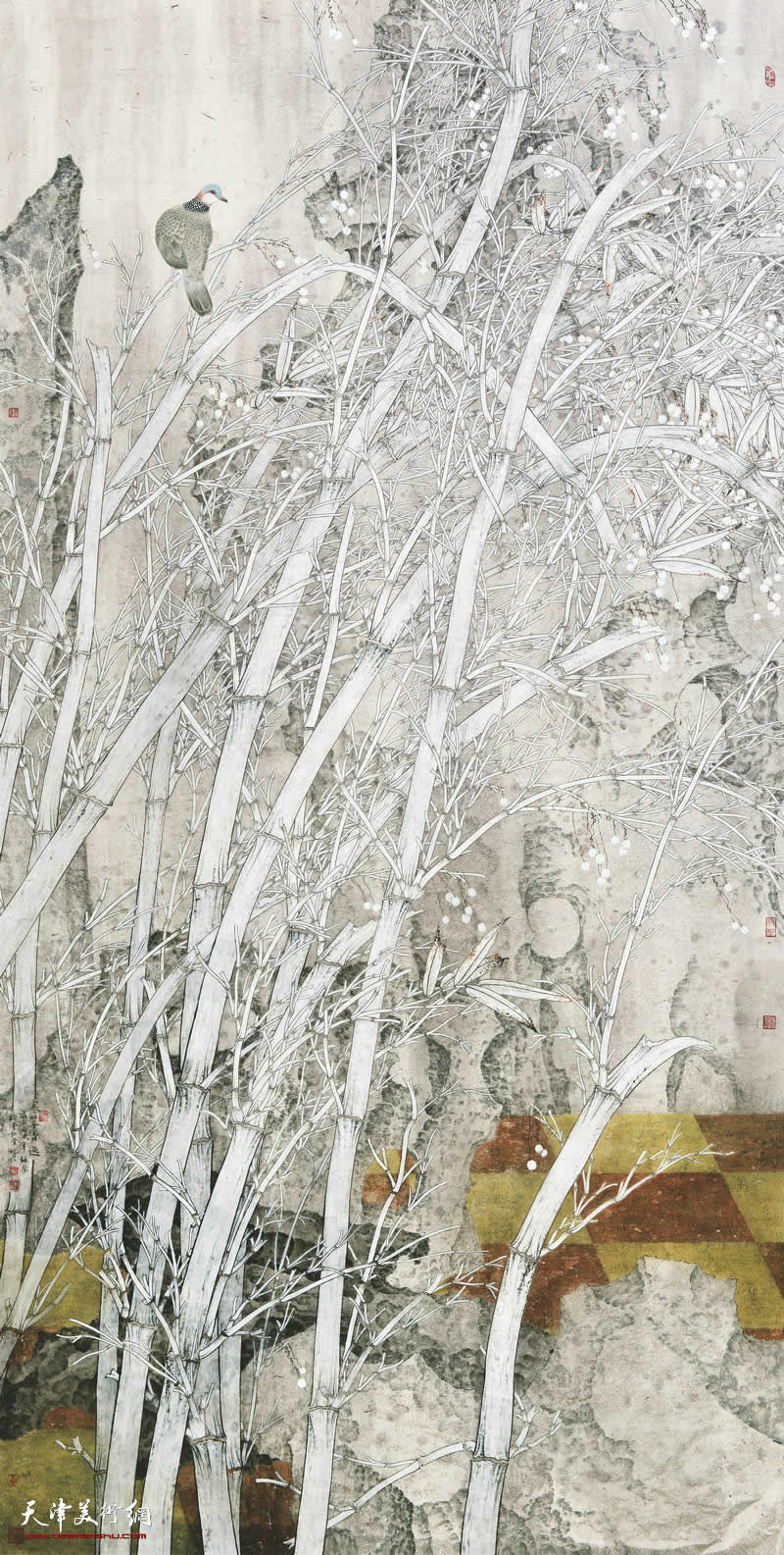 王柏松 广西 寒翠·清逸 248cm×124cm