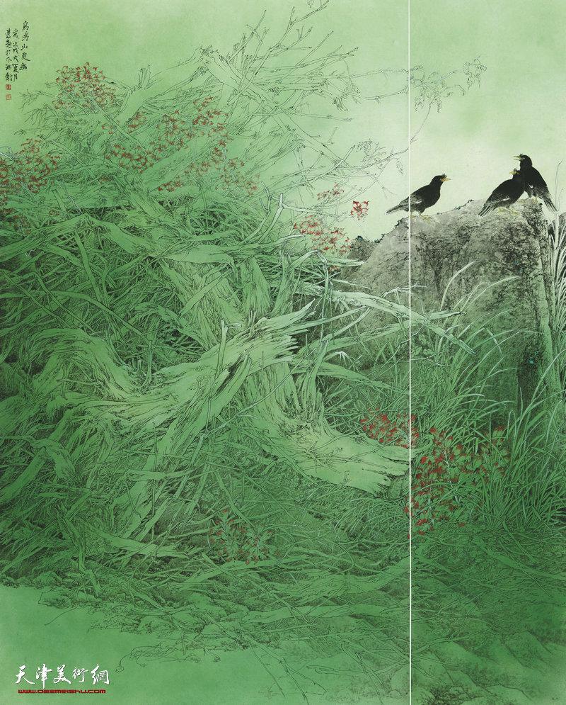 王念超 河南 鸟鸣山更幽 208cm×168cm