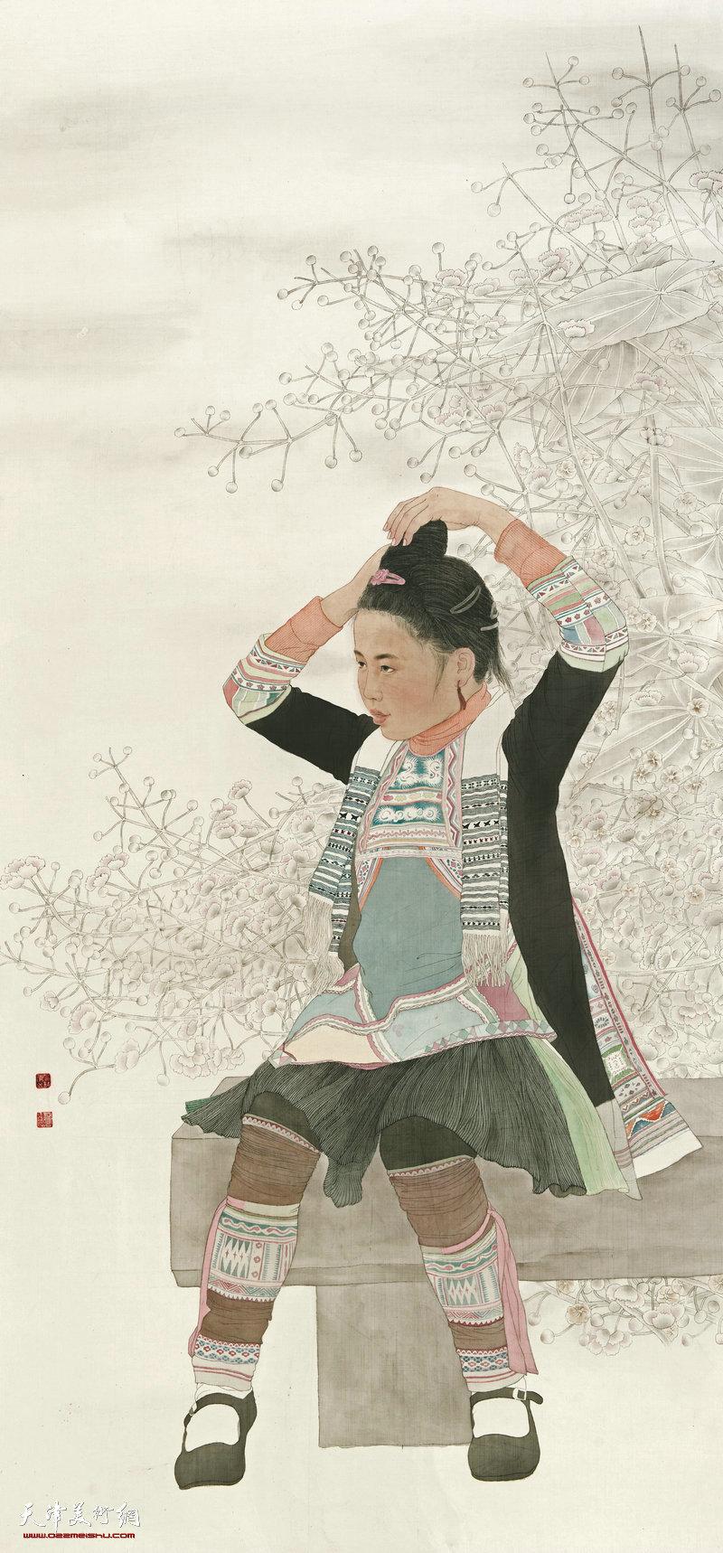 王水清 北京 晨妆 207cm×99cm