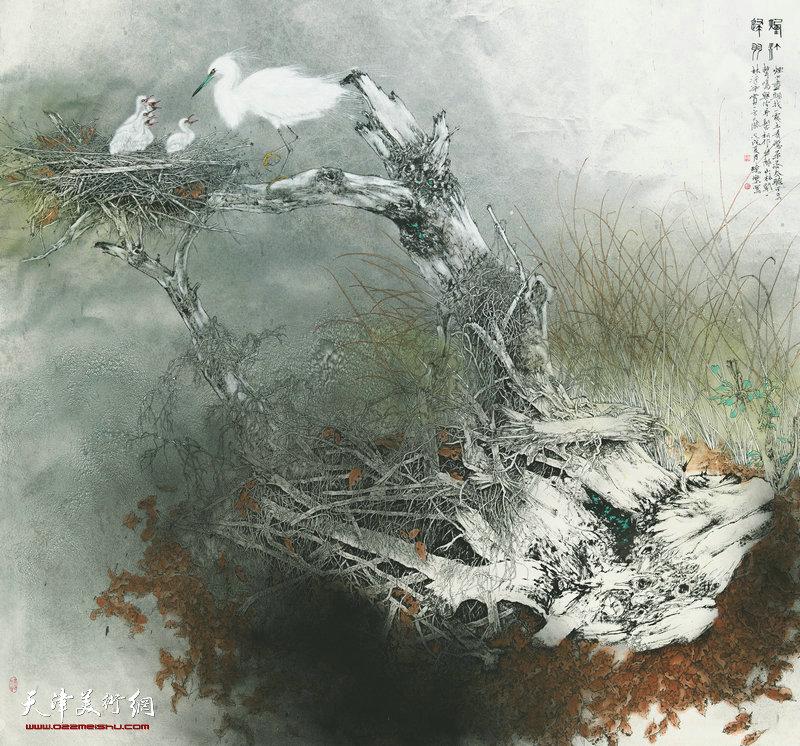 王晓乐 河南 烟汀归羽 180cm×199cm