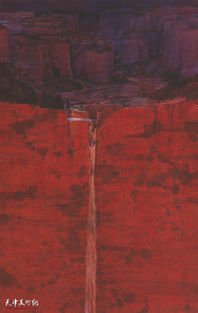 吴孝林 内蒙古 高山流水图 225cm×142cm