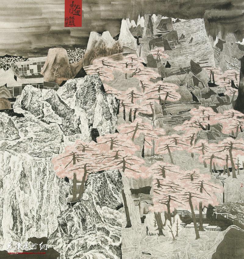 杨洁 湖北 谧 210cm×198cm