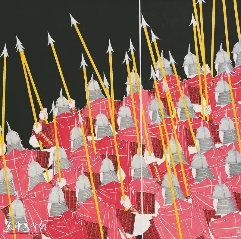 杨勇 天津 从军行 167cm×168cm