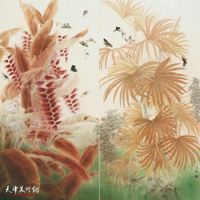 赵俊梅 河北 向阳花木易为春 132cm×135cm