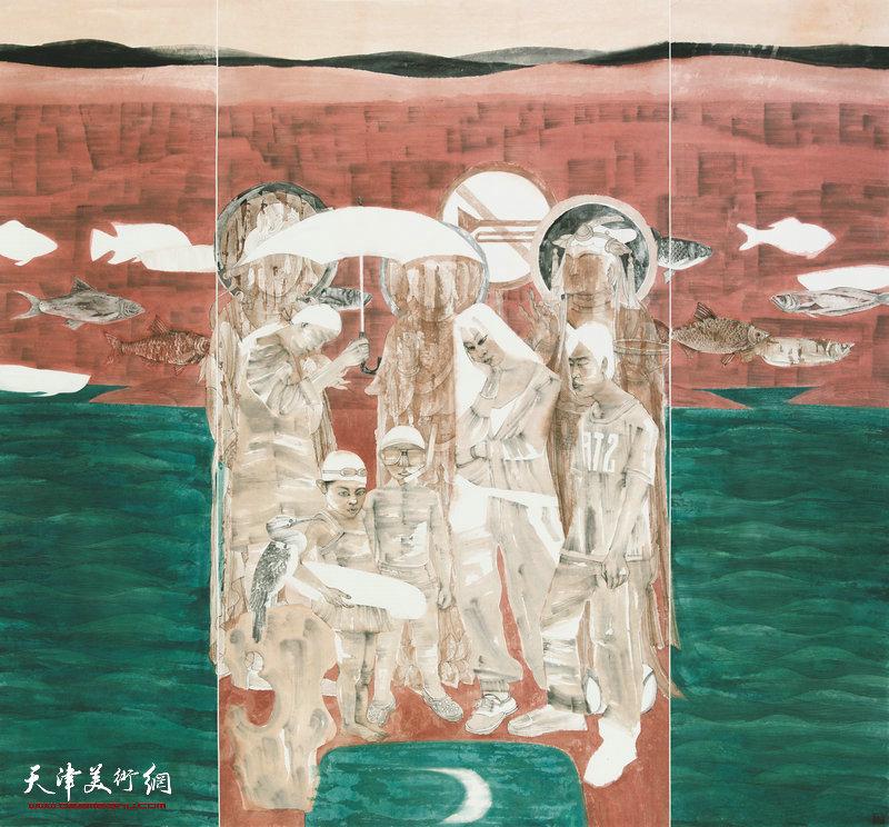 颜萌、杜萌 天津 山海共此时 178cm×192cm