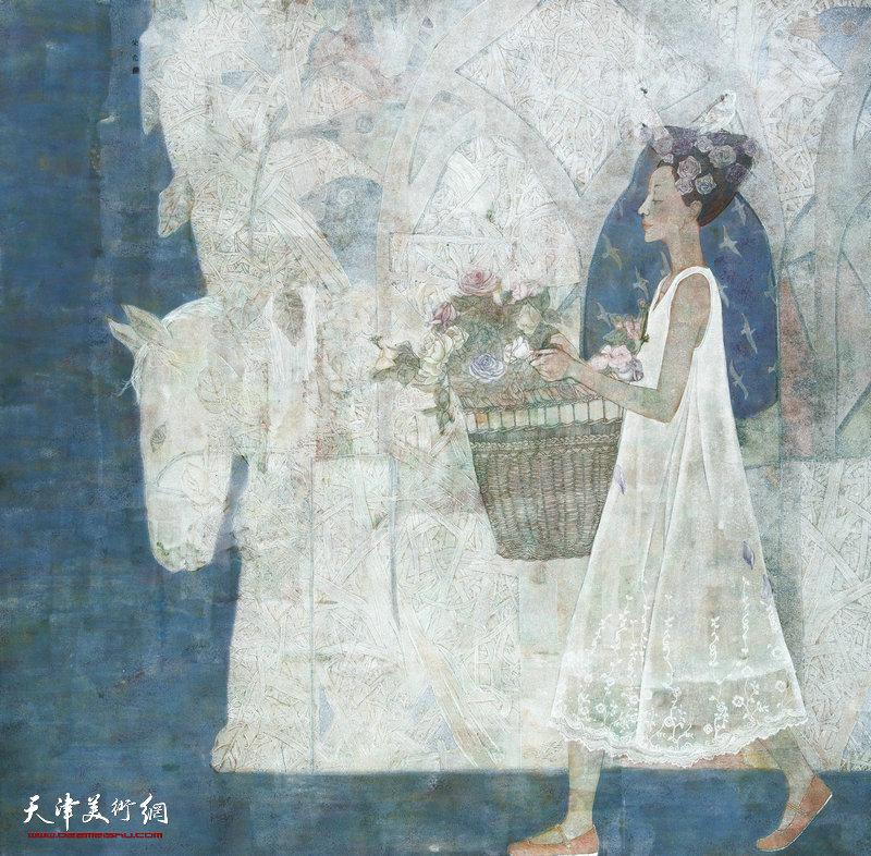 赵荣花 陕西 面朝大海 199cm×201cm