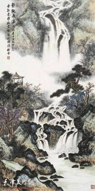爱新觉罗·毓震峰:《观瀑图》