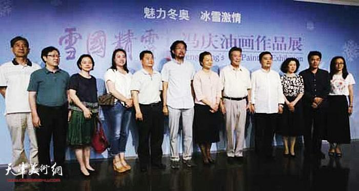 """2017年5月""""雪国精灵·冯庆油画作品展""""在深圳举办。"""