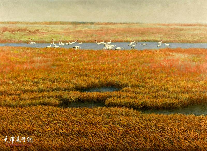 鹤乡 100cm×73cm 1995年 The Hometown of Cranes(1995)