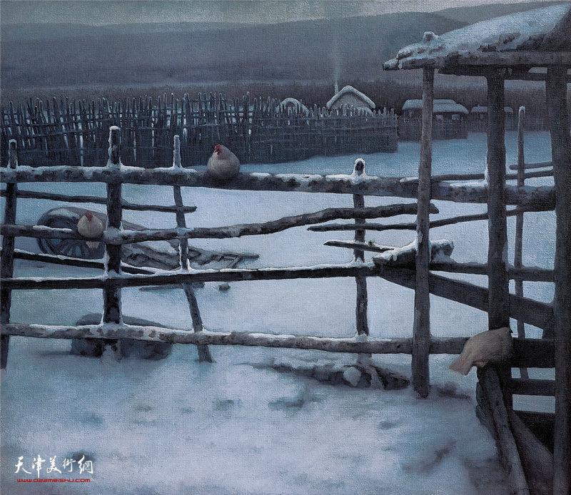 塞外冬色 115cm×130cm 1986年 The Winter Outside The Great Wall(1986)