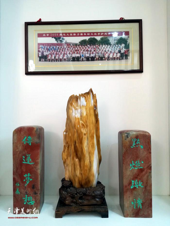 张大功奥林匹克收藏博物馆展出的藏品。