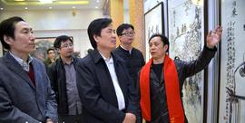 组图:张大功2018最新博彩白菜大全作品展在天津一鉴楼文化会馆举办