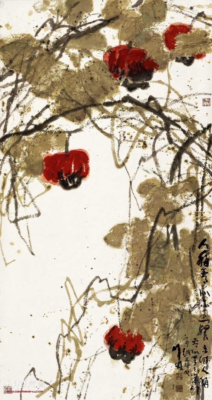 刘曦林作品:秋实系列之四 老看瓜
