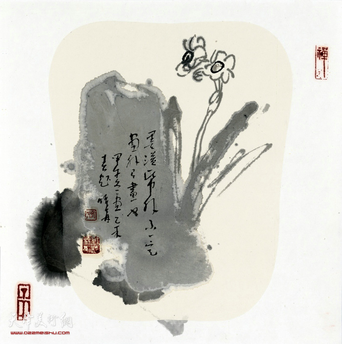 刘曦林作品:淡墨仙子  纸本水墨   2014年