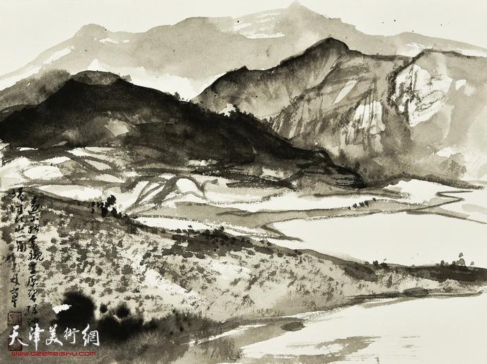 刘曦林作品:北山一角