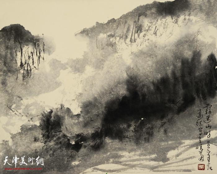 刘曦林作品:承德山雾  33.6厘米×41.7厘米  2016年