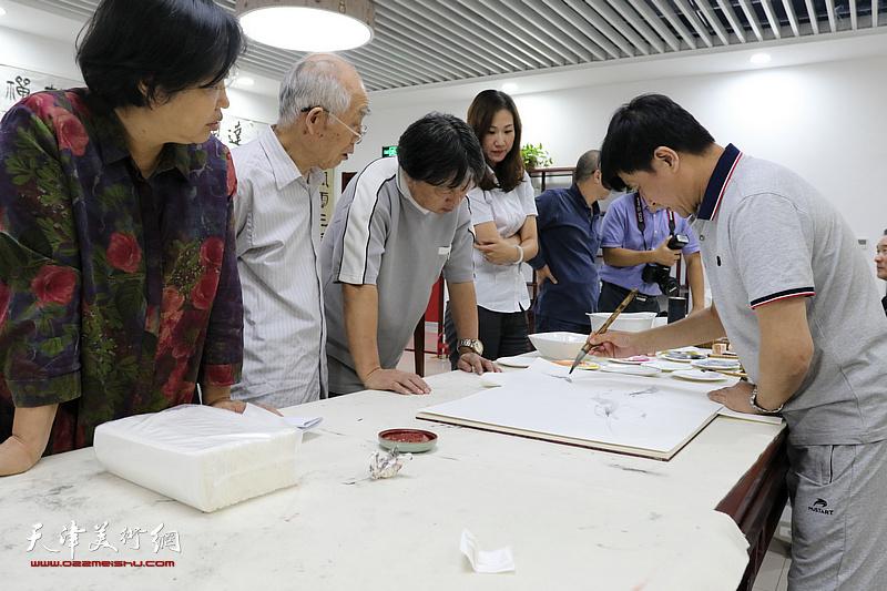 海洋科技园书法绘画主题沙龙活动
