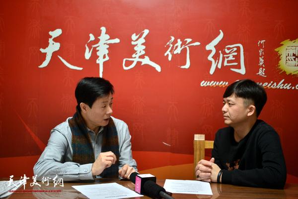著名画家魏玖来做客天津美术网