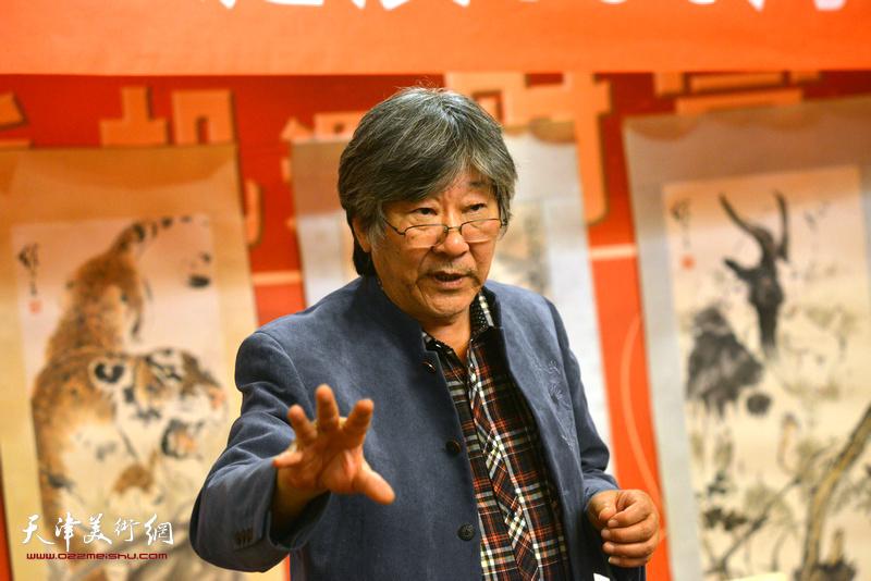 中国刘奎龄书画艺术研究院副院长王山岭