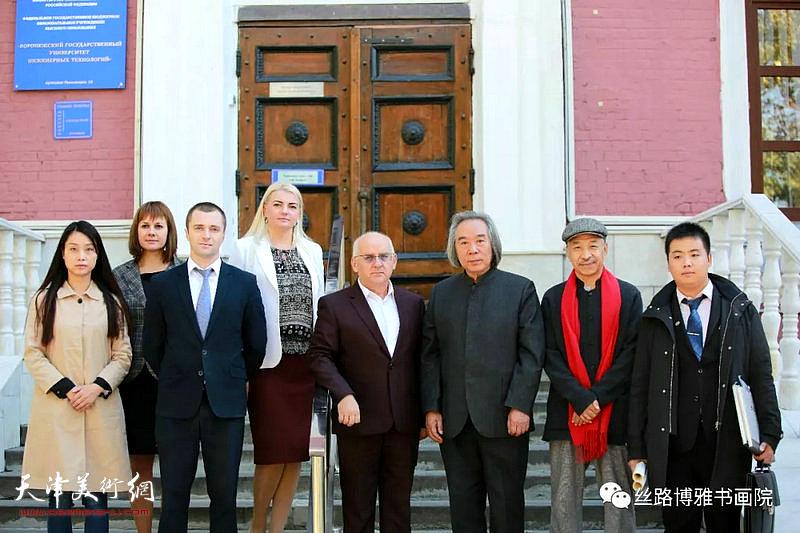 霍春阳、墨梅生等一行在俄罗斯沃罗涅日国立工程技术大学。