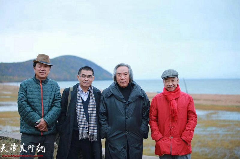 霍春阳、墨梅生、杨佩璋等一行在俄罗斯沃罗涅日。